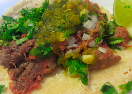 Beef Tongue Taco (Corn Tortilla)