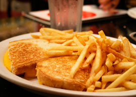 Cheese Sandwich and Fries