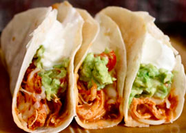 Chicken Tacos (3 Soft Tacos)