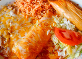 Combination 8 One Chicken or Beef Tamale and One Enchilada