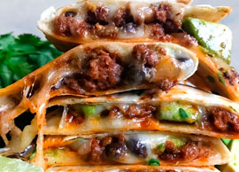 Ground Beef and Cheese Quesadillas