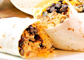 Lunch Combination 10 One burrito with chorizo, eggs and cheese
