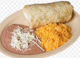 Lunch Combination 3 One chicken or beef burrito