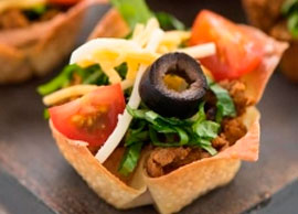 Mini Taco Salad Chicken Breast