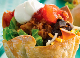 Mini Taco Salad Ground Beef
