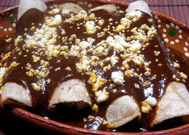 Mole Negro Enchiladas