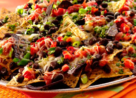 Nachos with Black Beans