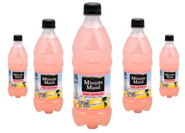 Pink Lemonade bottles