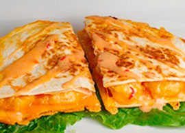 Shrimp and Cheese Quesadillas