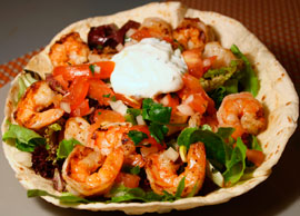 Taco Salad with Shrimp